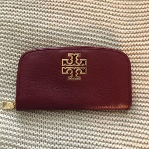 Authentic Burgundy Tory Burch Wallet